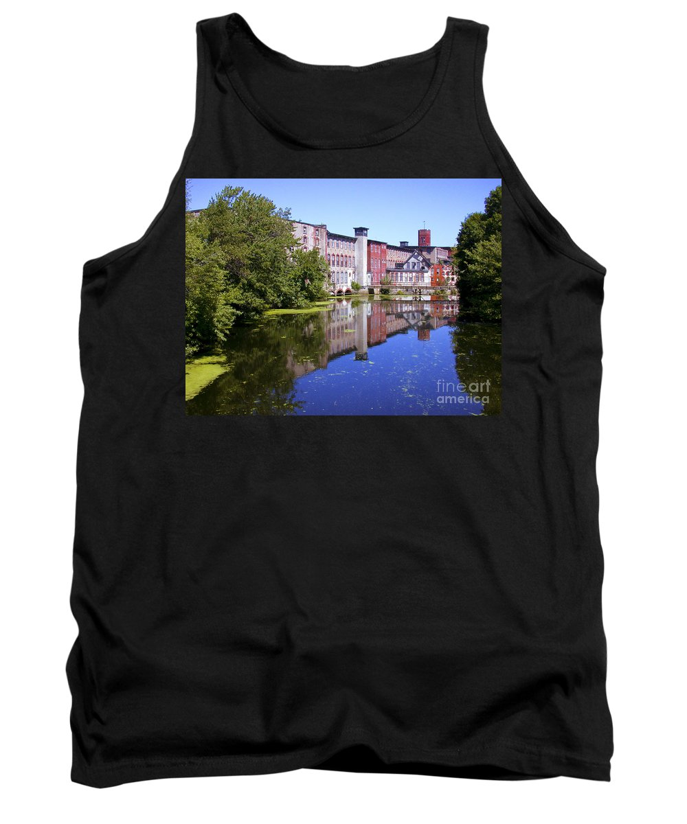 Warwick Tank Top featuring the photograph Pontiac Mills Overall 2 by Tim Mulina
