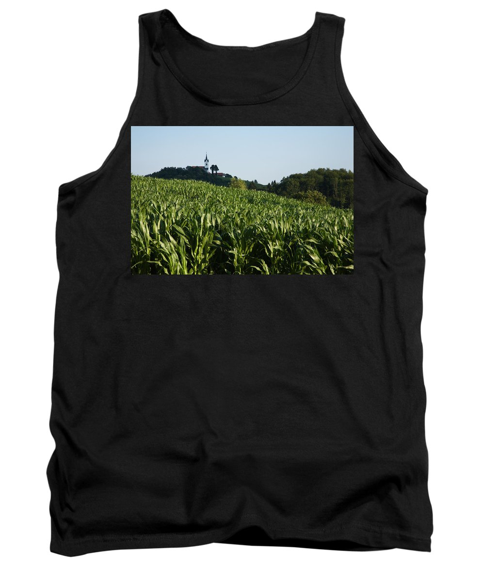 Saint Tank Top featuring the photograph Prezganje Church by Ian Middleton
