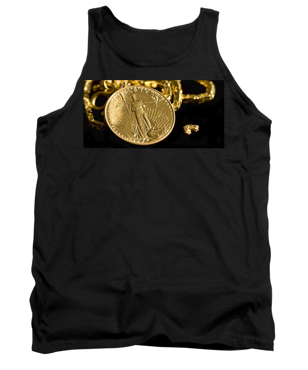 Pure Tank Top featuring the photograph Pure As Gold by Kathy Clark