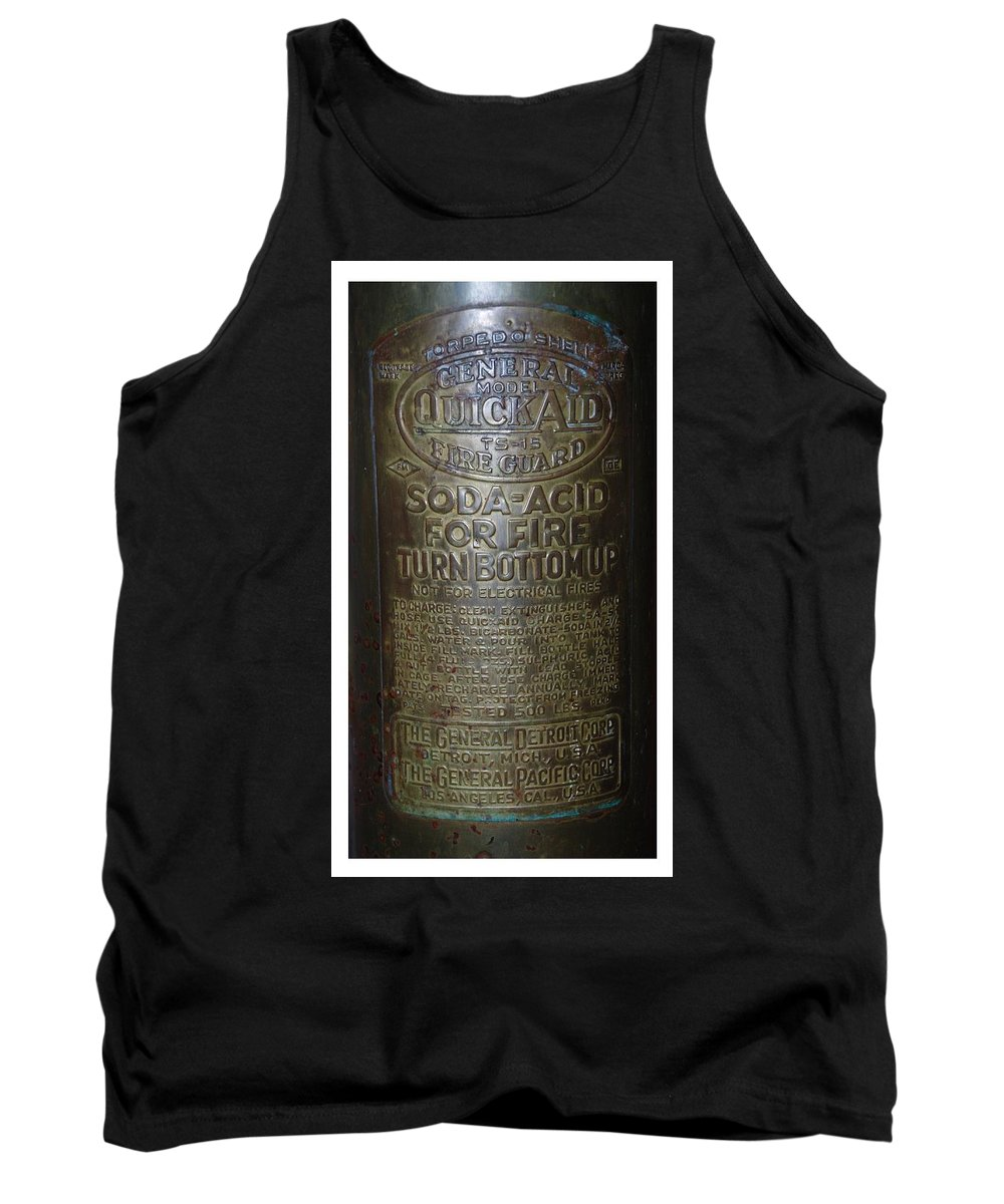Fire Extinguisher Tank Top featuring the photograph Quick Aid Extinguisher by Rob Hans