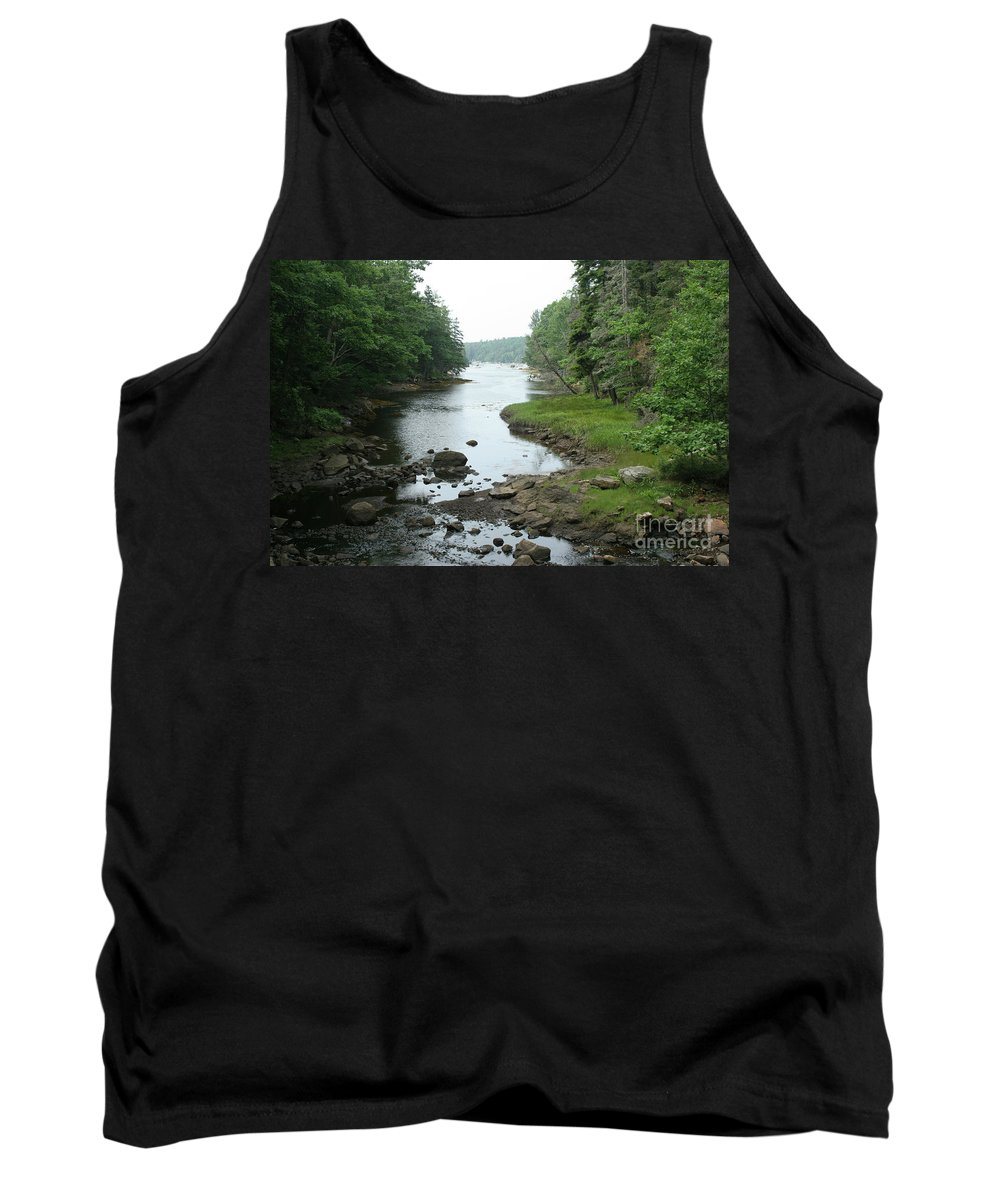 Tide Tank Top featuring the photograph Receding Tide In Maine Part Of A Series by Ted Kinsman