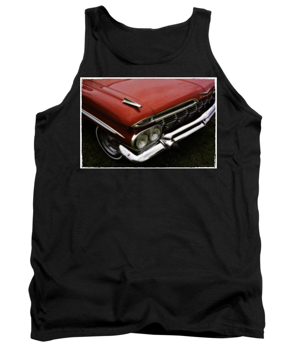 Scrap Tank Top featuring the photograph RED by Jerry Golab