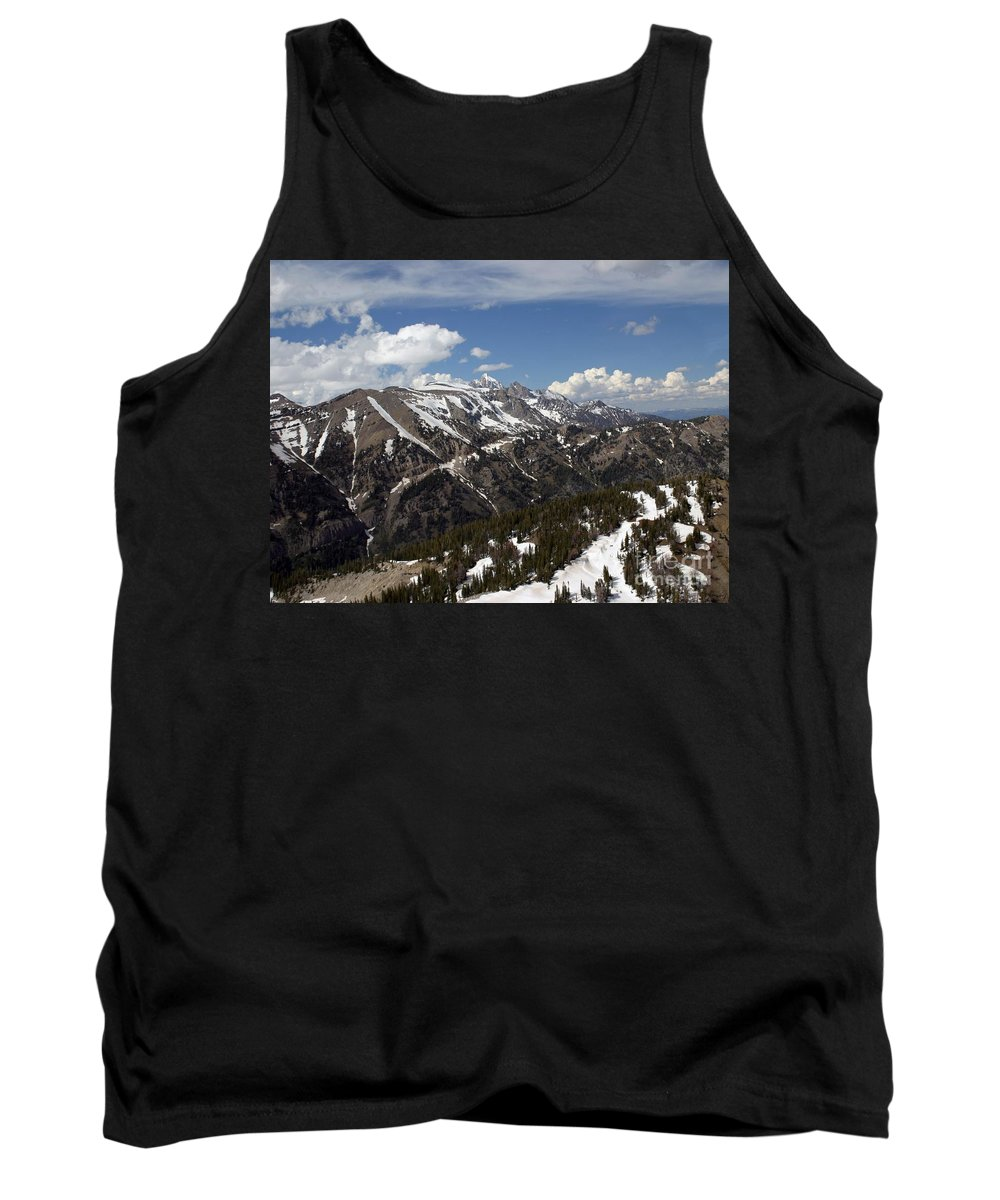 Rendezvous Mountain Tank Top featuring the photograph Rendezvous Mountain by Living Color Photography Lorraine Lynch