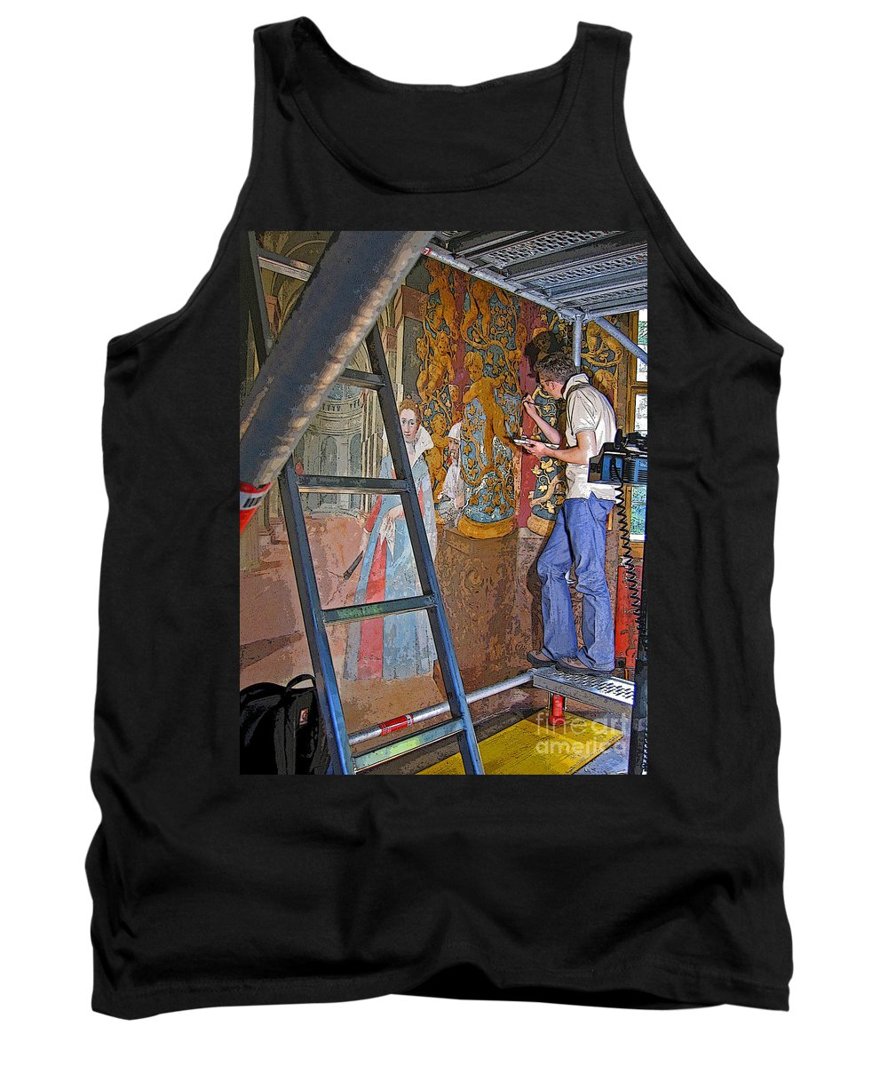 Art Tank Top featuring the photograph Restoring Art by Ann Horn