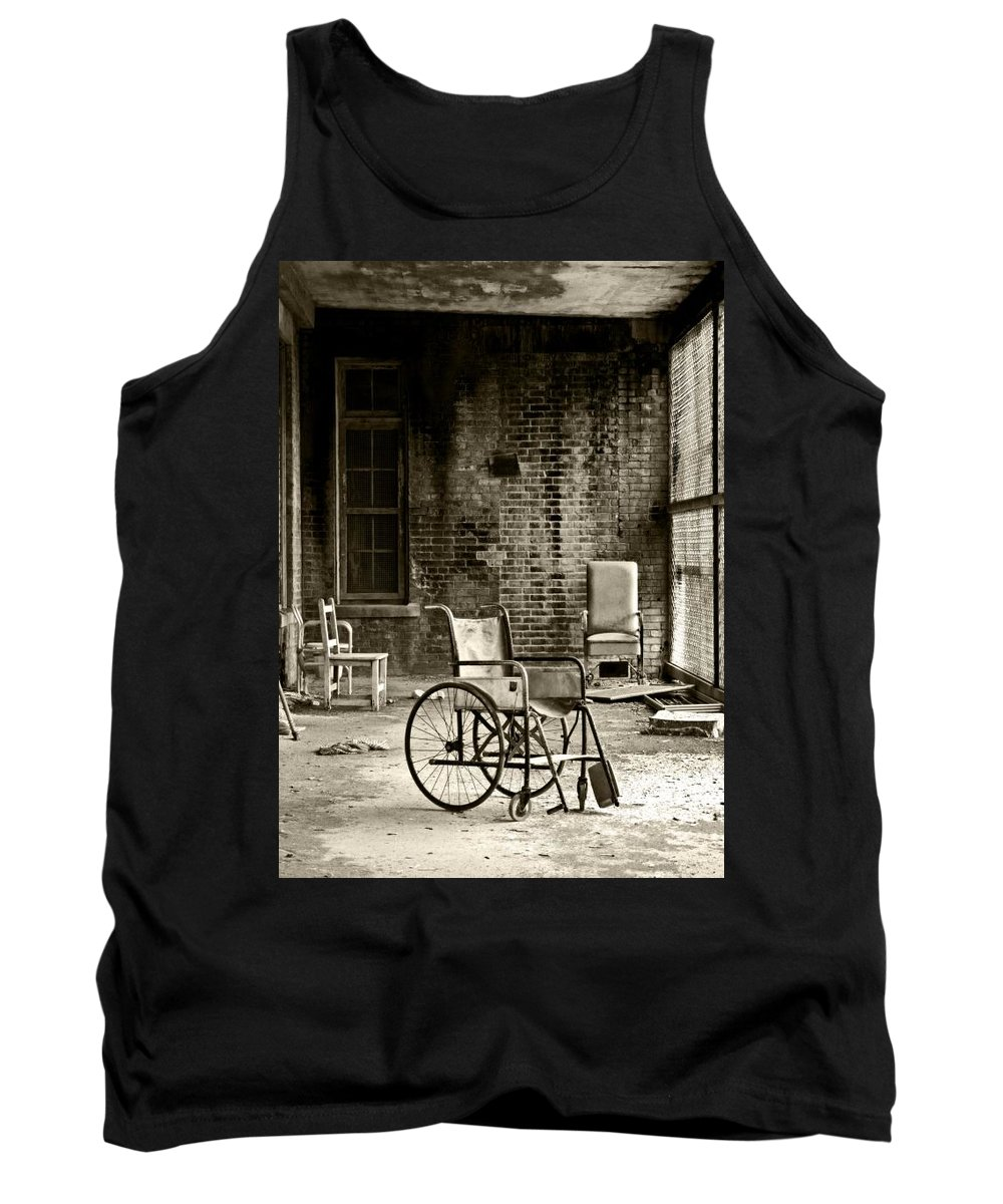 Abandoned Tank Top featuring the photograph Restrain by Conor McLaughlin