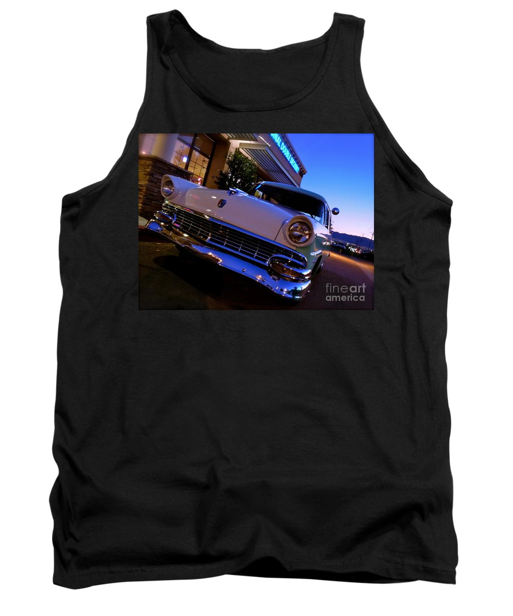 Bob's Big Boy Tank Top featuring the photograph Retro Ford At Bob's by Customikes Fun Photography and Film Aka K Mikael Wallin