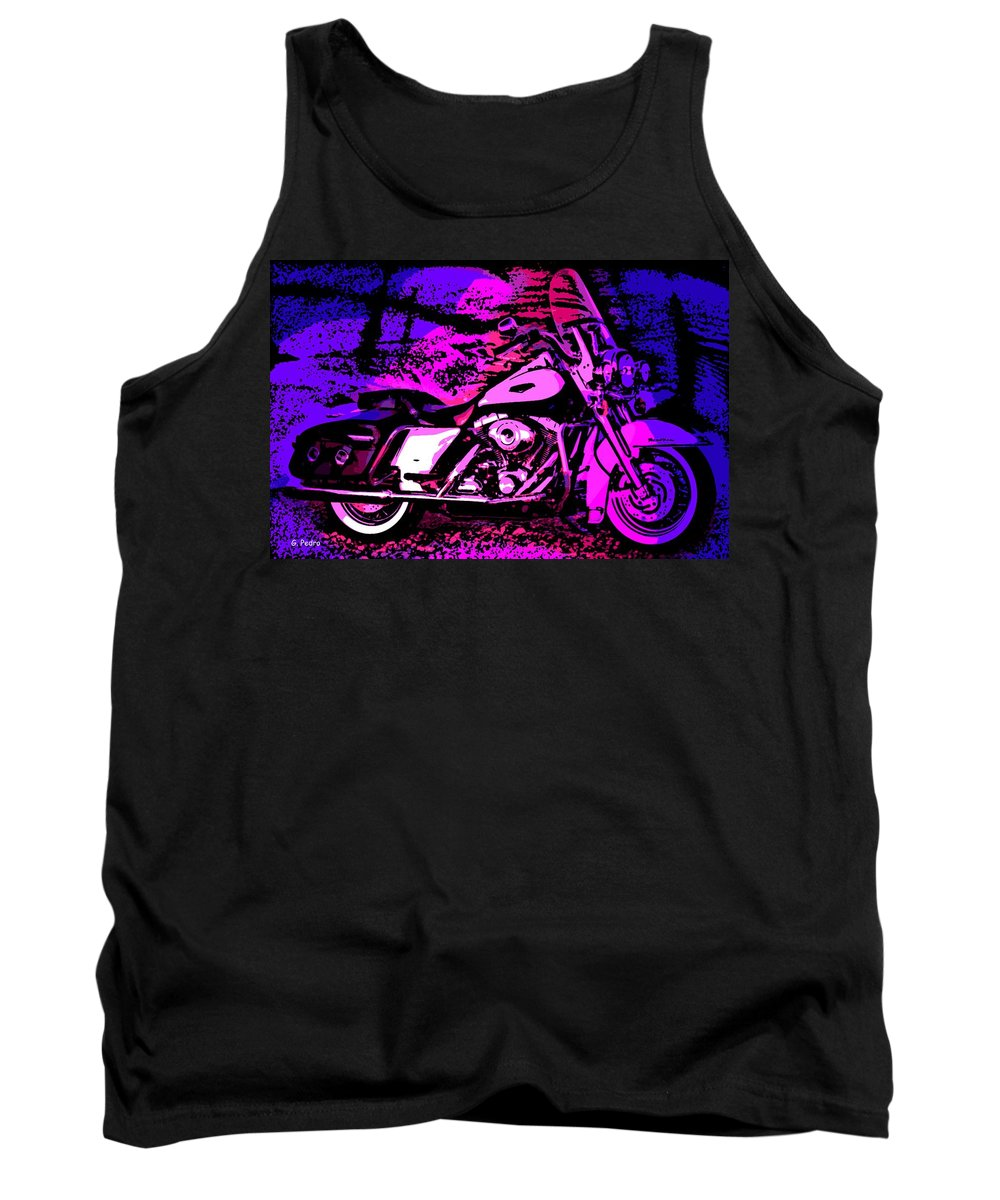 Harley Davidson Tank Top featuring the photograph Road King by George Pedro