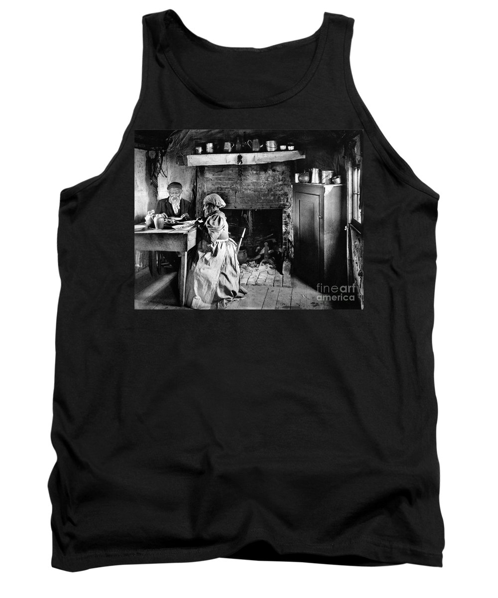 1900 Tank Top featuring the photograph Rural Couple Eating, C1899 by Granger