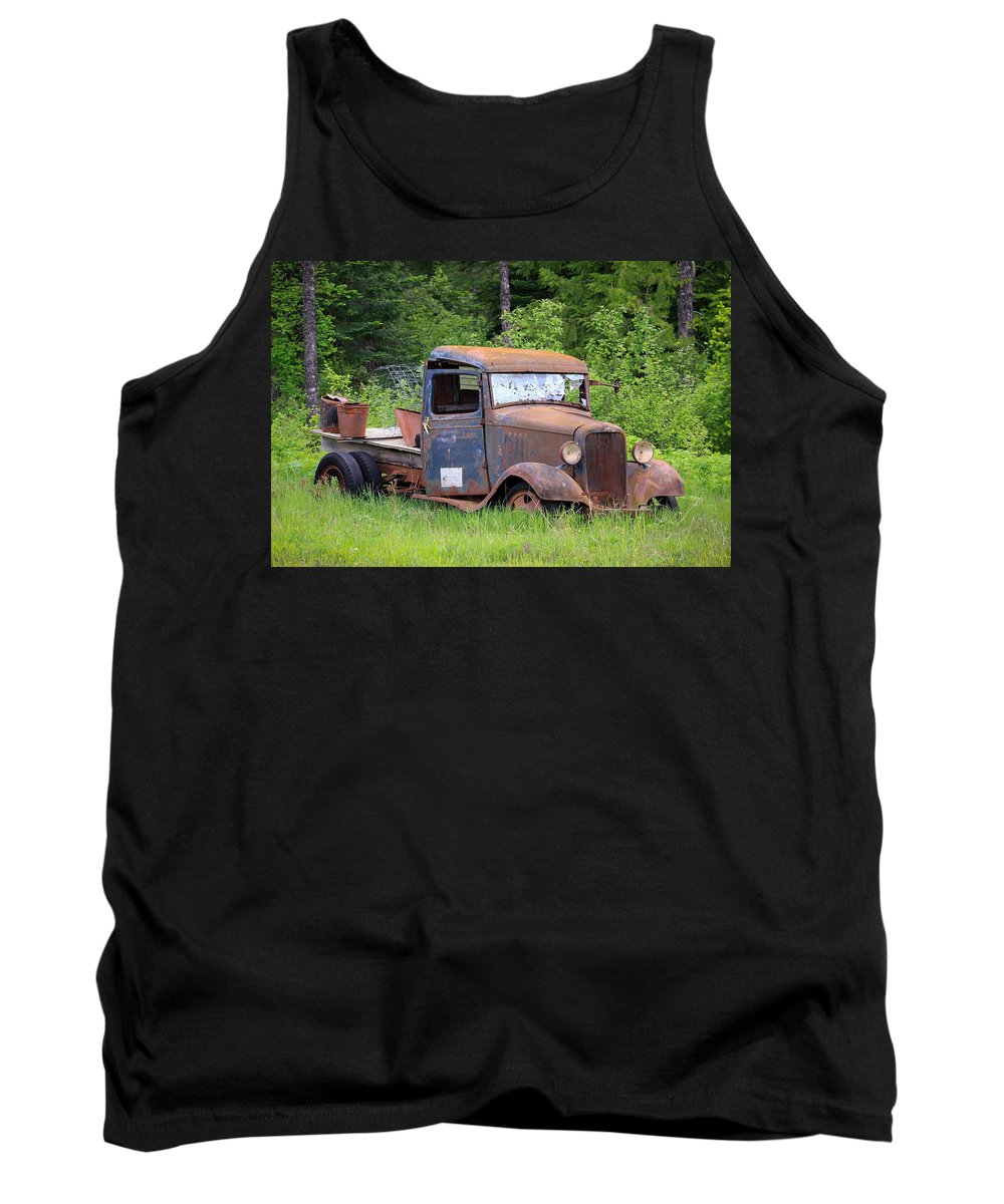 Abandoned Truck Tank Top featuring the photograph Rusty Chevy by Steve McKinzie