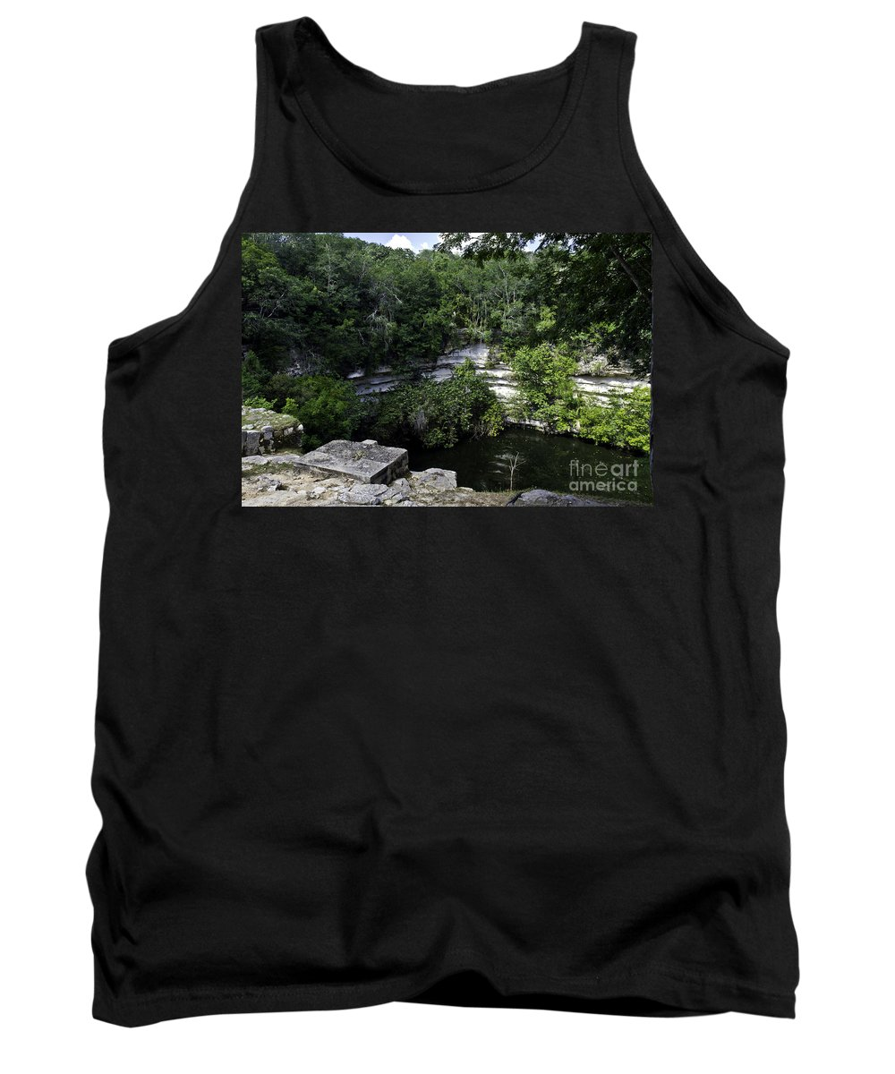 Chichen Itza Tank Top featuring the photograph Sacred Well by Ken Frischkorn