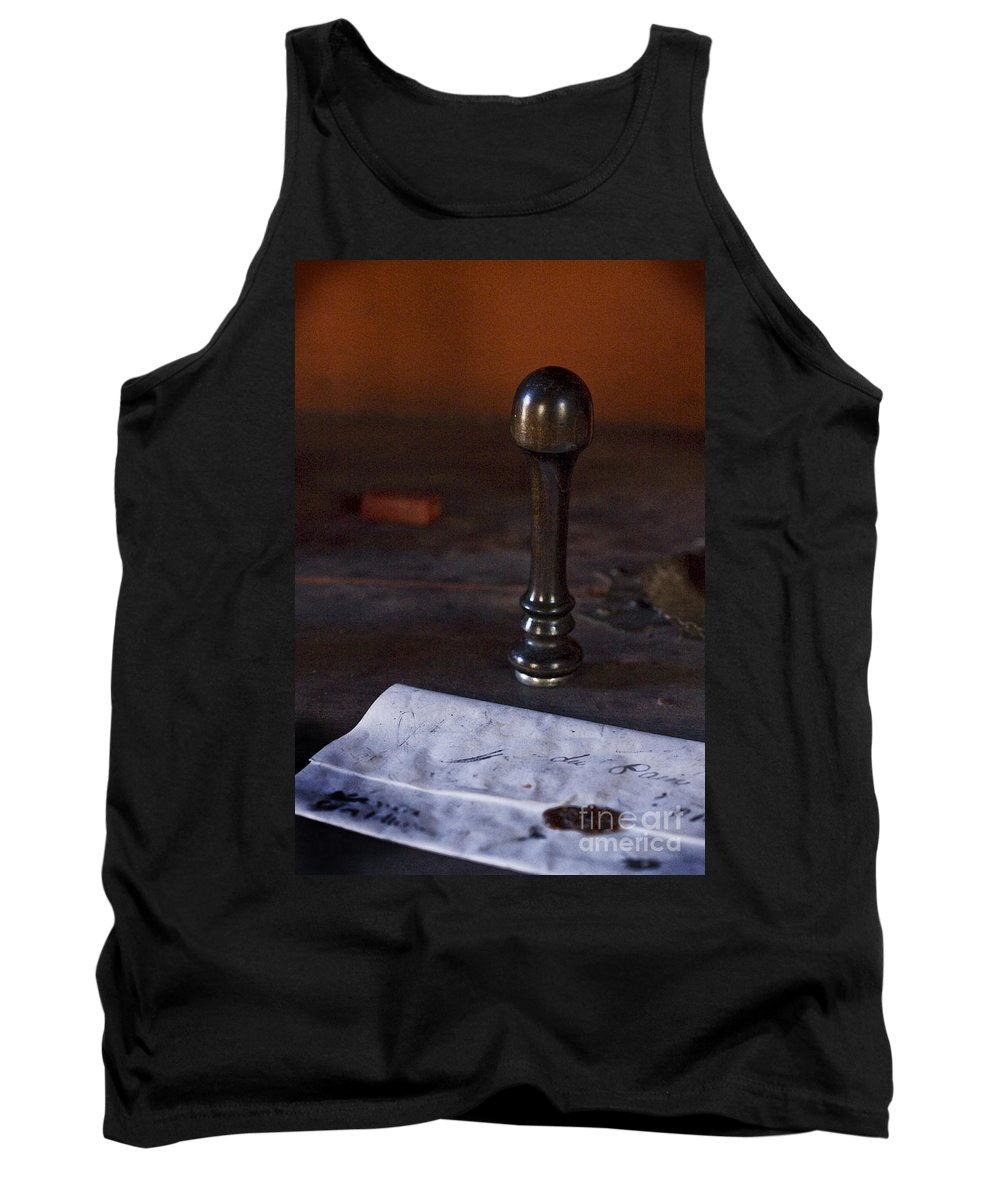 Fort St. Jean Baptiste Tank Top featuring the photograph Sealed by Kim Henderson
