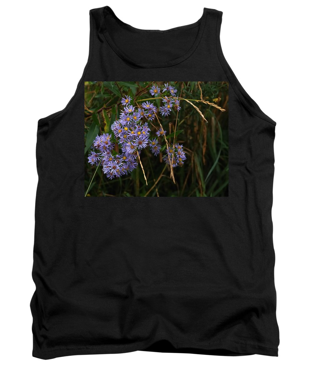 Nature Tank Top featuring the photograph Seasonal Blues by Susan Capuano