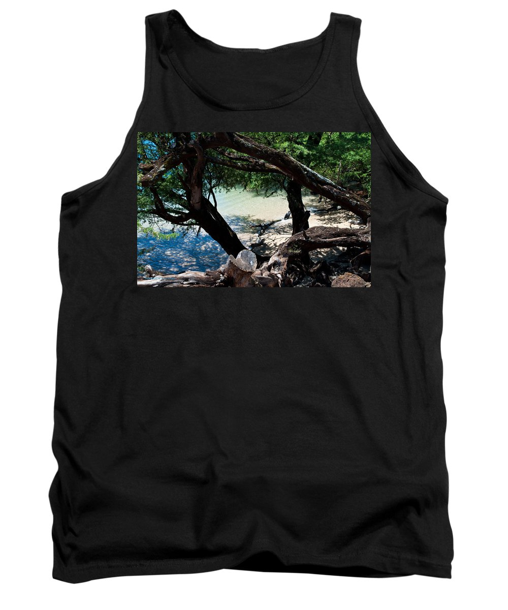 Interior Design Tank Top featuring the photograph Secluded Beach by Paulette B Wright