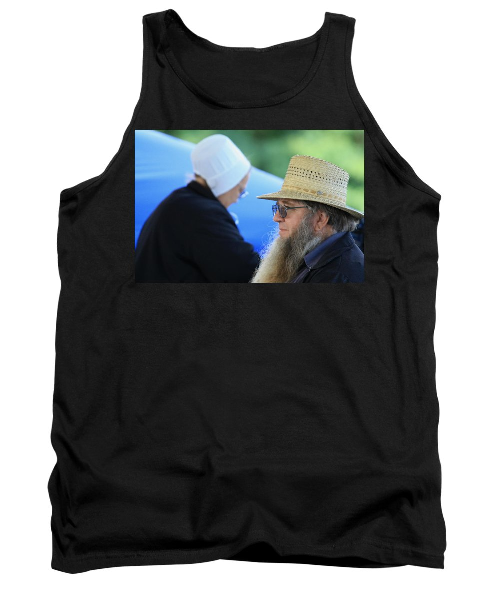 Digital Tank Top featuring the photograph Selling At The Market by Dennis Pintoski