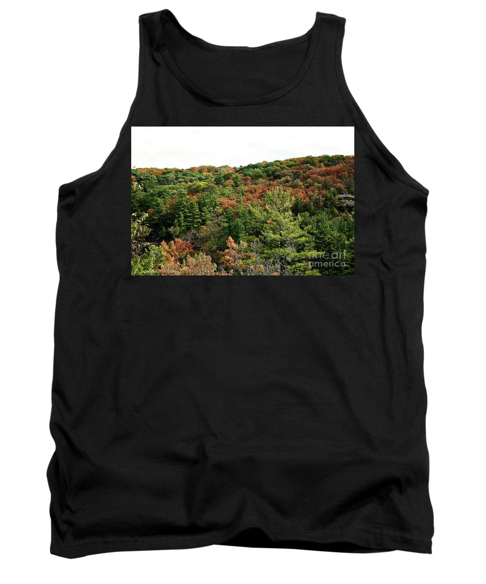Landscape Tank Top featuring the photograph September Palate by Susan Herber