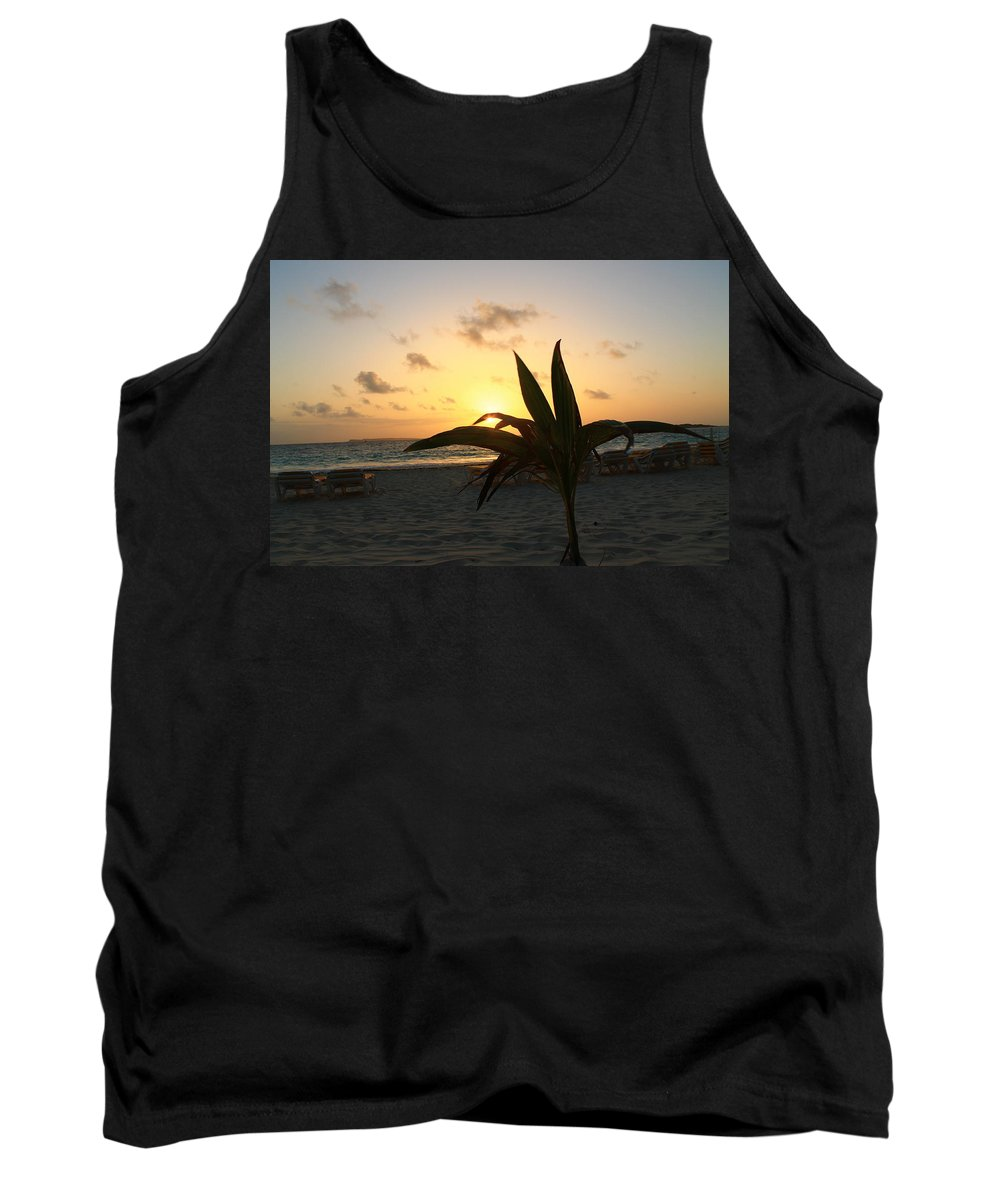 Sunrise Tank Top featuring the photograph Serenity by Catie Canetti