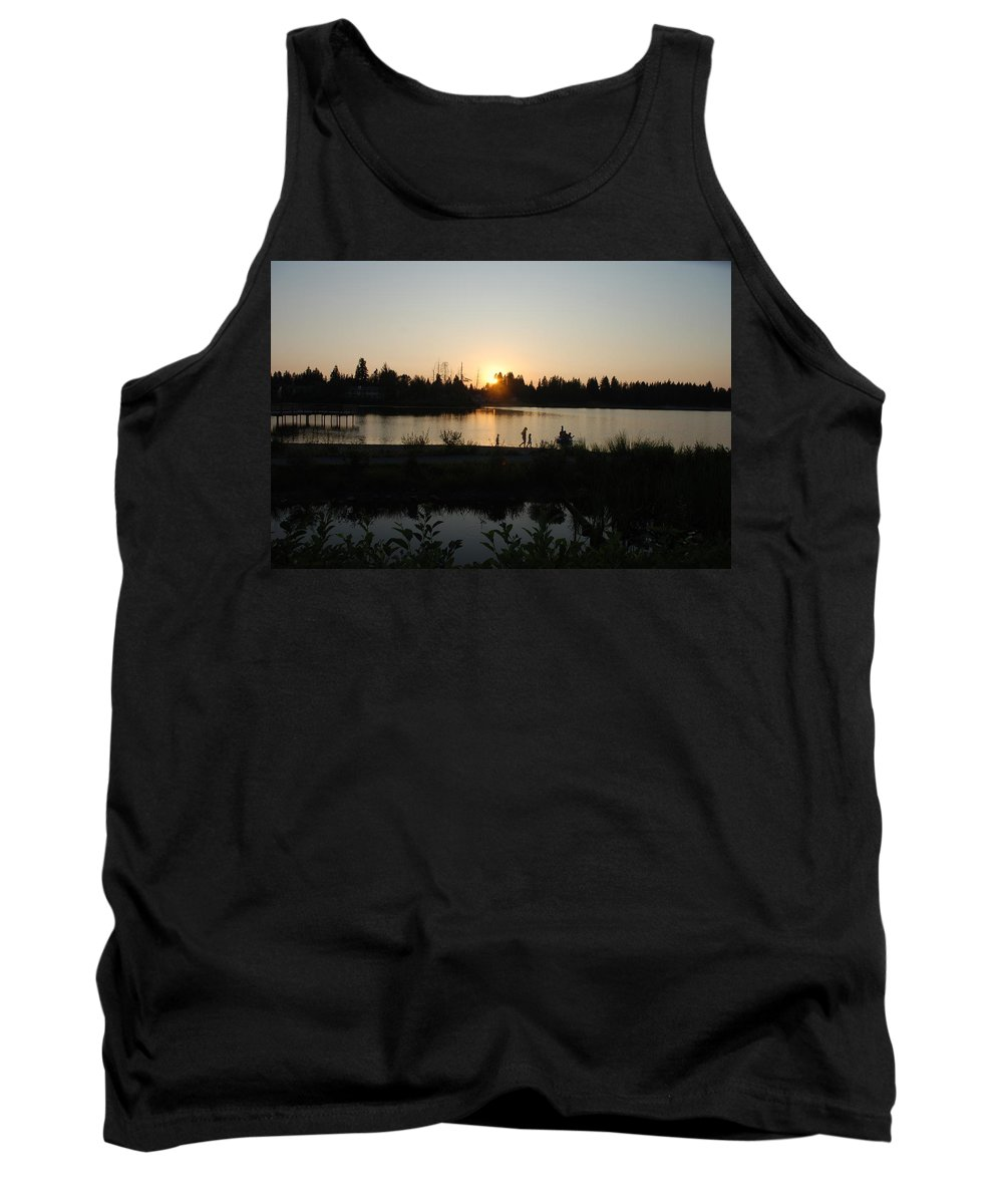 Summer Tank Top featuring the photograph Setting Sun by Michael Merry