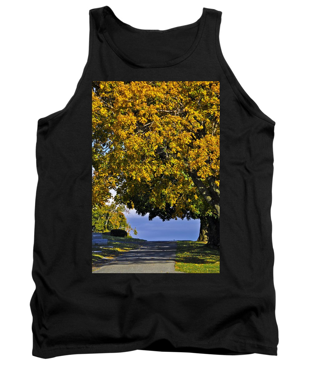 Cemetery Tank Top featuring the photograph Shadow On The Edge by Trish Tritz