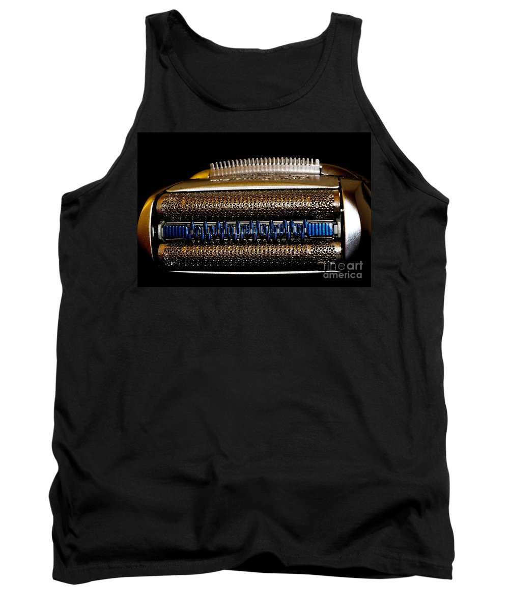 Shaver Tank Top featuring the photograph Shaver Machine by Mats Silvan