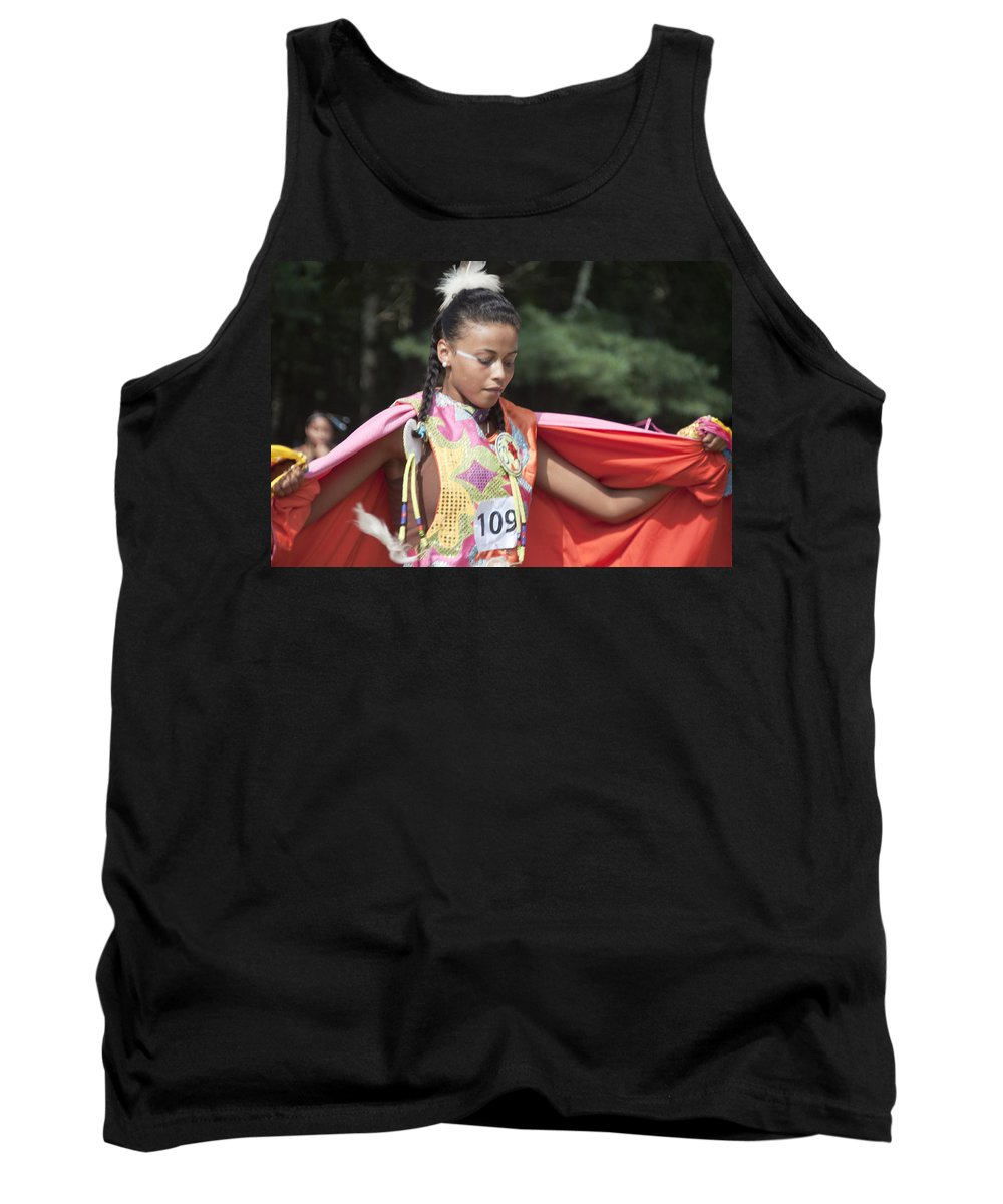 Photography Tank Top featuring the photograph Shawl Dancer 109 by Steven Natanson