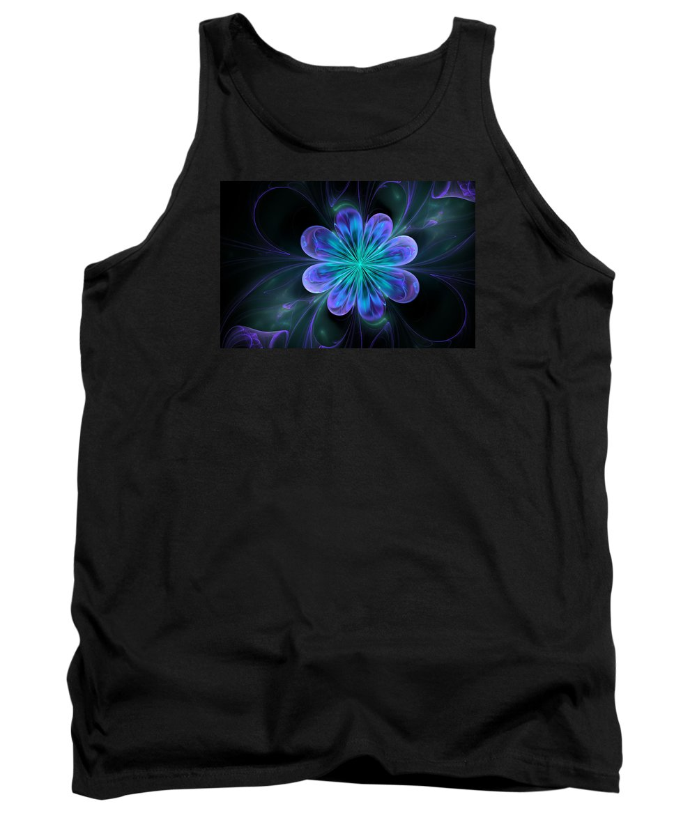 Abstract Tank Top featuring the digital art Silk Of The Orient by Georgiana Romanovna