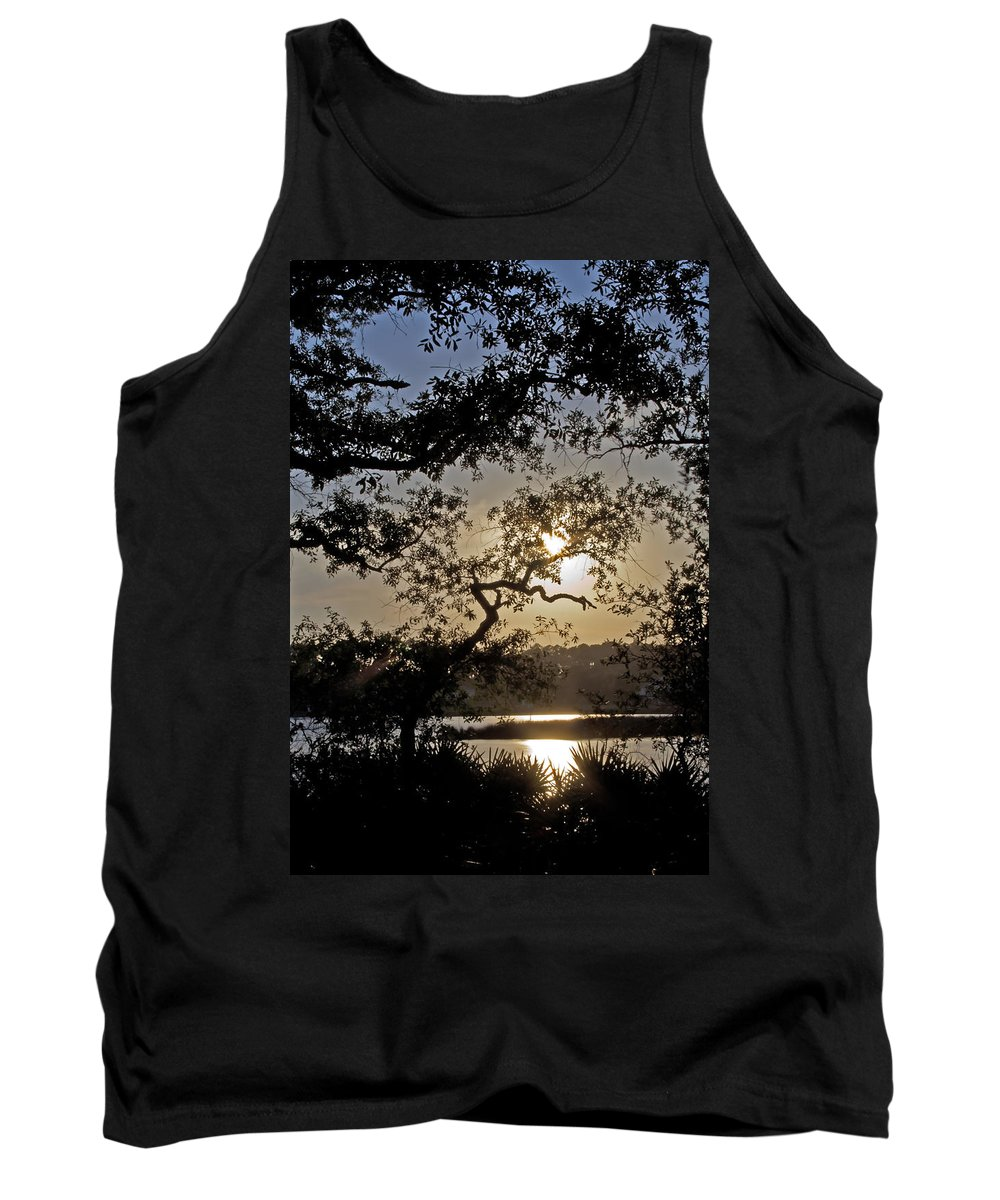Sunset Tank Top featuring the photograph Silky Sunset by David Troxel