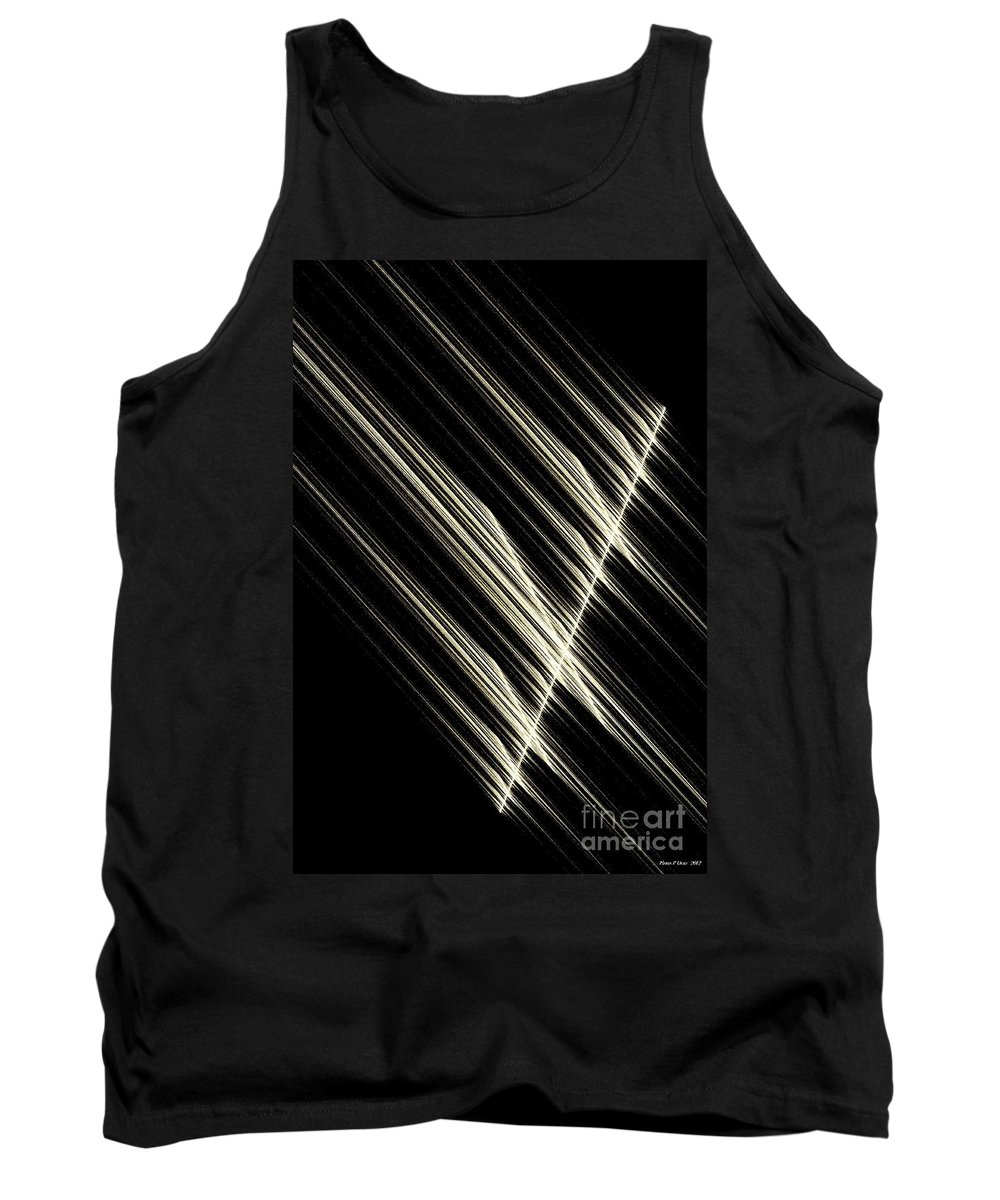 Simply Tank Top featuring the digital art Simply Mathematical by Maria Urso
