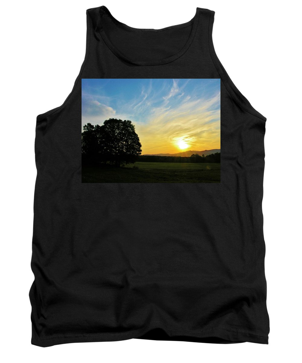 Sunrise Tank Top featuring the photograph Six Am by Sherman Perry