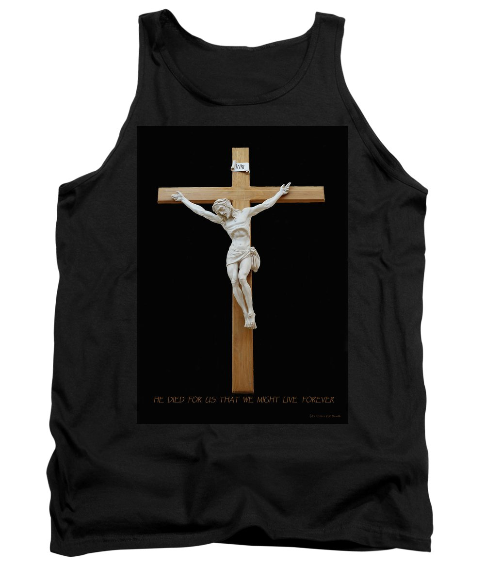 Jesus Tank Top featuring the photograph Sjncc Crucifix 1 Two K Eleven by Carl Deaville