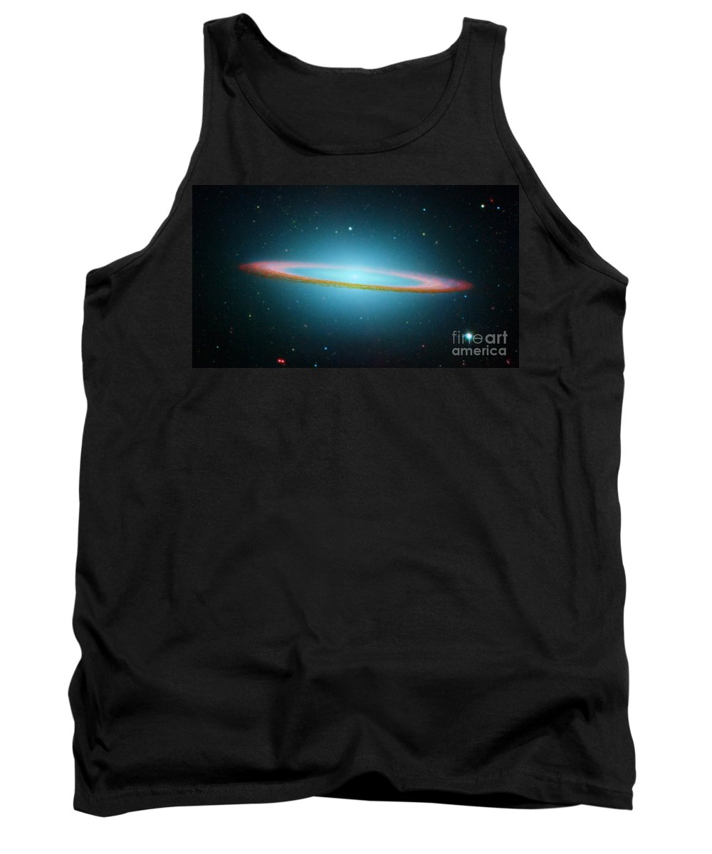 2005 Tank Top featuring the photograph Sombrero Galaxy M104, Ir Image by NASA Science Source