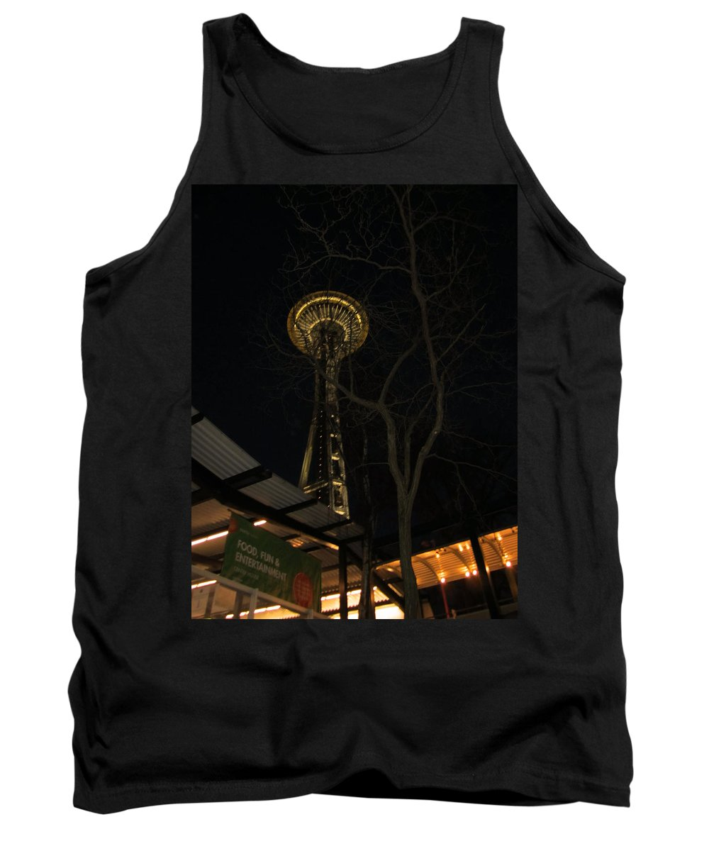Space Needle Tank Top featuring the photograph Space Needle Entertainment by Kym Backland