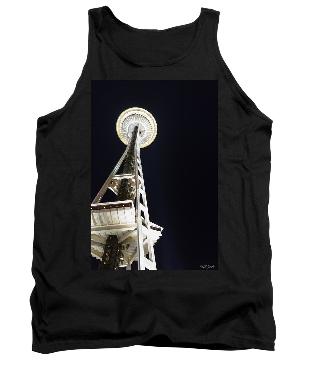 Space Needle Tank Top featuring the photograph Space Needle by Heidi Smith