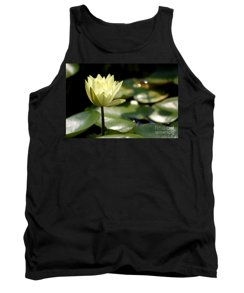Lotus Tank Top featuring the photograph Sparkle by Living Color Photography Lorraine Lynch
