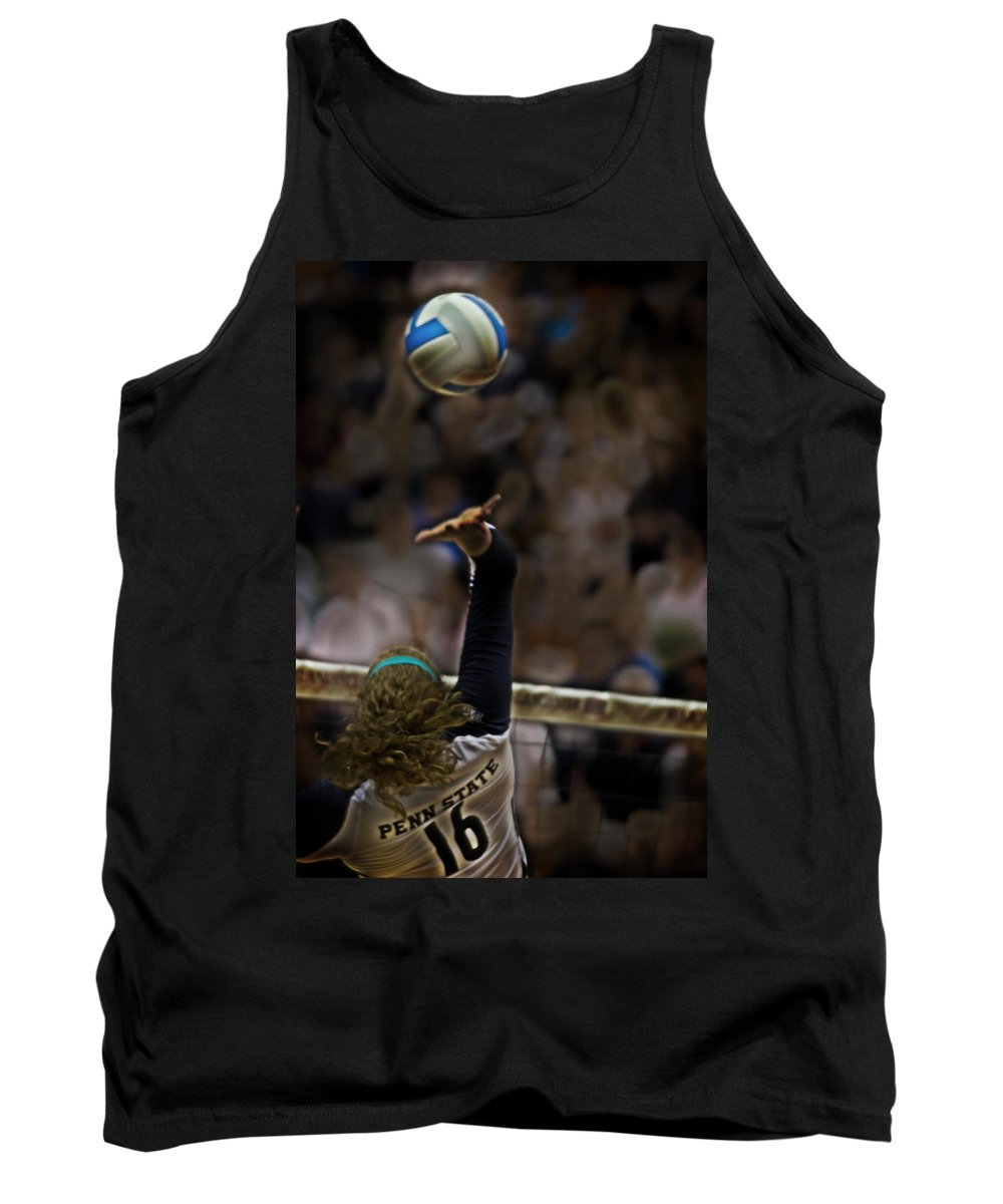 Volleyball Tank Top featuring the photograph Spiked by Tom Gari Gallery-Three-Photography