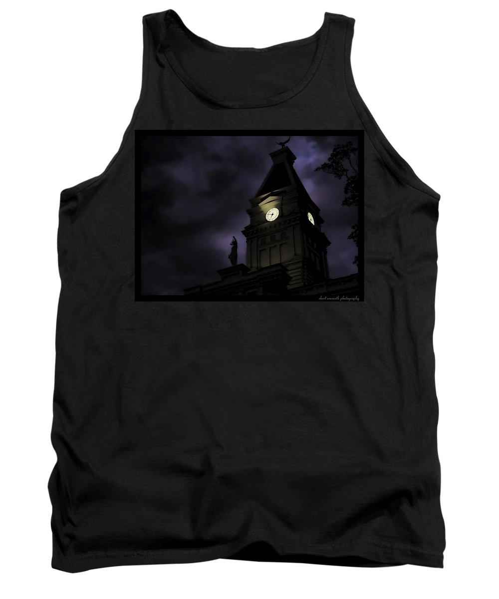Blue Tank Top featuring the photograph Spooky by Sheri Bartoszek