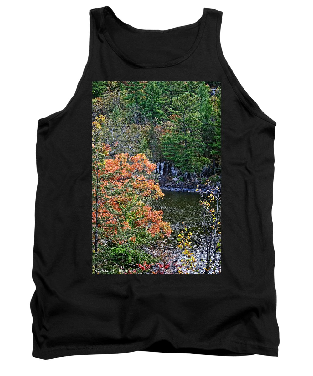 Landscape Tank Top featuring the photograph St Croix River by Susan Herber