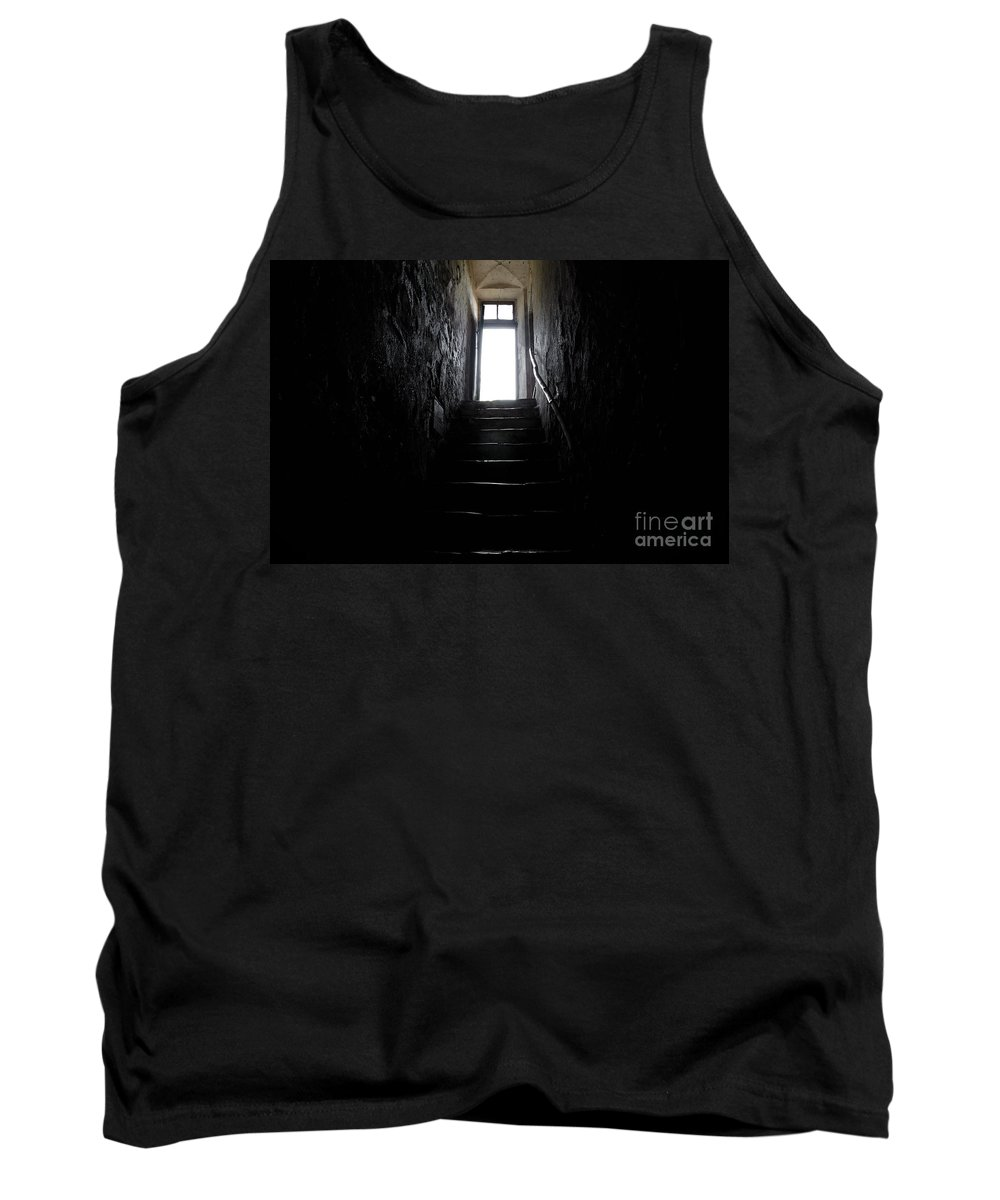Stairs Tank Top featuring the photograph Stairs To The Light by Mats Silvan