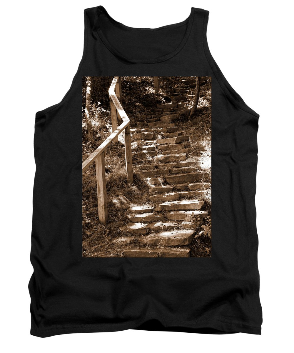 Stairs Tank Top featuring the photograph Stairway To Heaven by Trish Tritz
