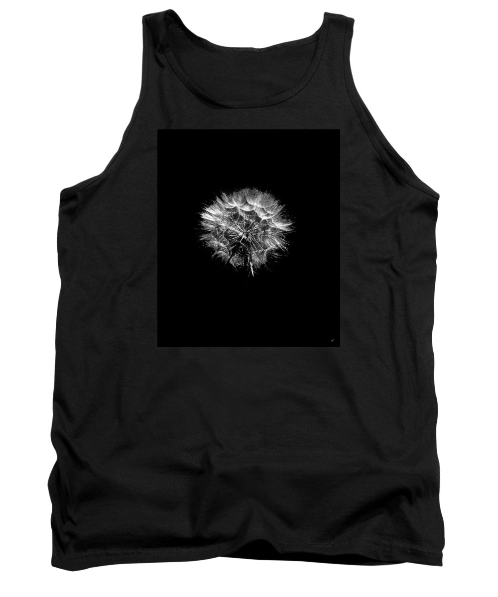 Black And White Tank Top featuring the photograph Stark Puff by Peri Craig