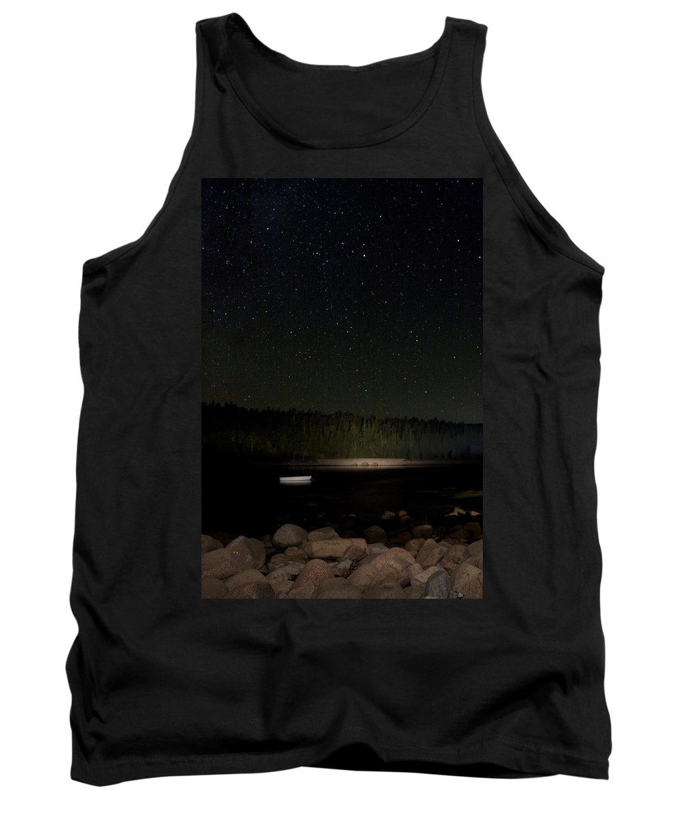 Stars Tank Top featuring the photograph Stars Over Otter Cove by Brent L Ander