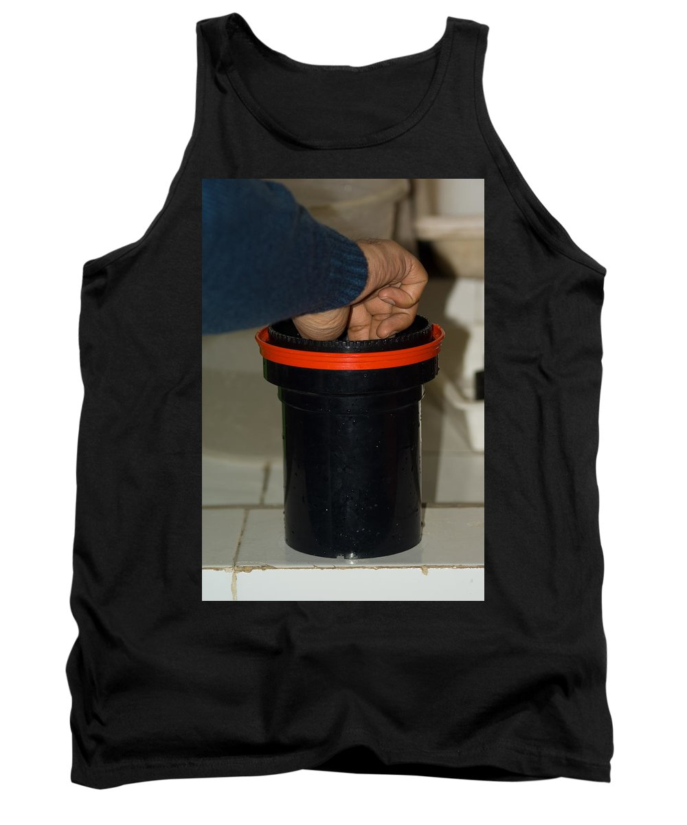 Expert Tank Top featuring the photograph Stirring Up The Photo Shaker For Initial Print Development by Ashish Agarwal