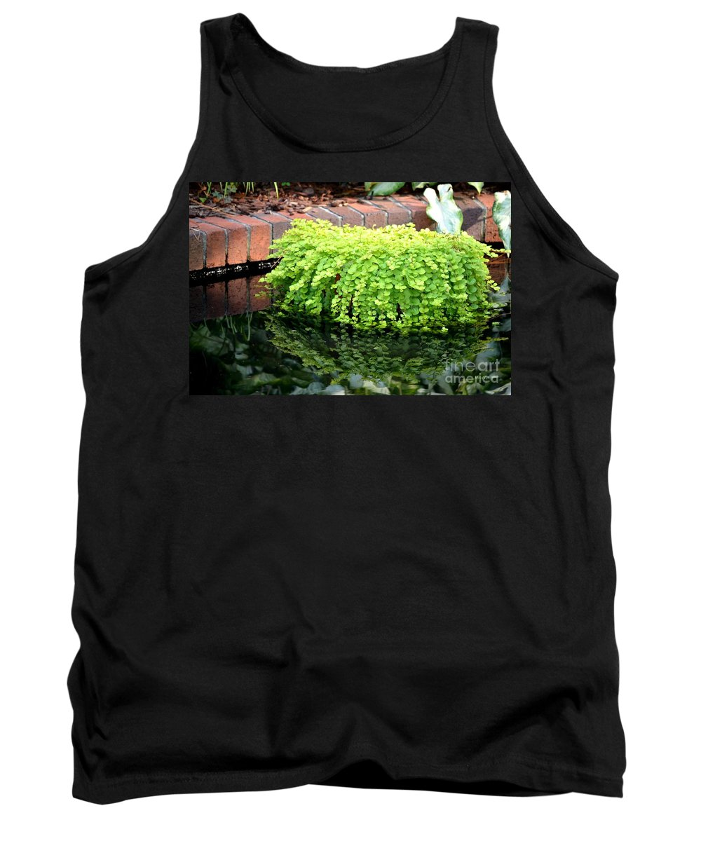 Stone Tank Top featuring the photograph Stoneside Reflections by Maria Urso