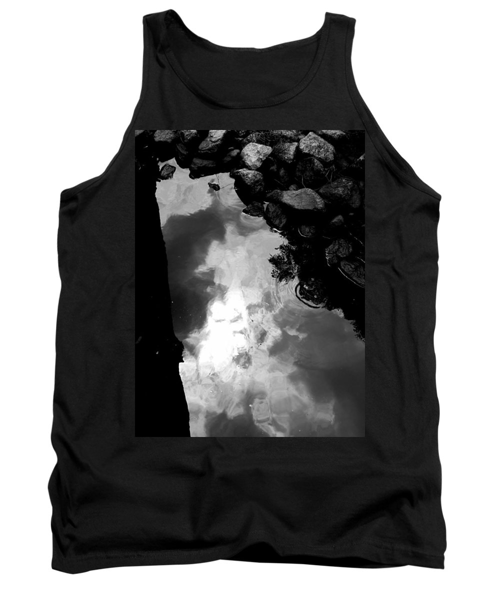 Black And White Tank Top featuring the photograph Stoney Reflections by Michele Nelson