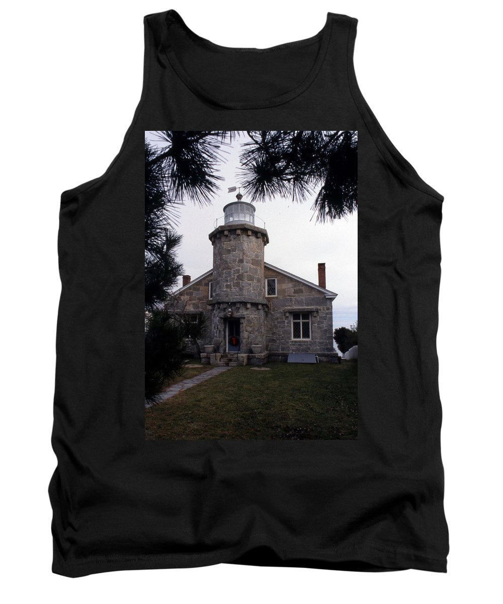 Ct Tank Top featuring the photograph Stonington Harbor Lighthouse by Skip Willits