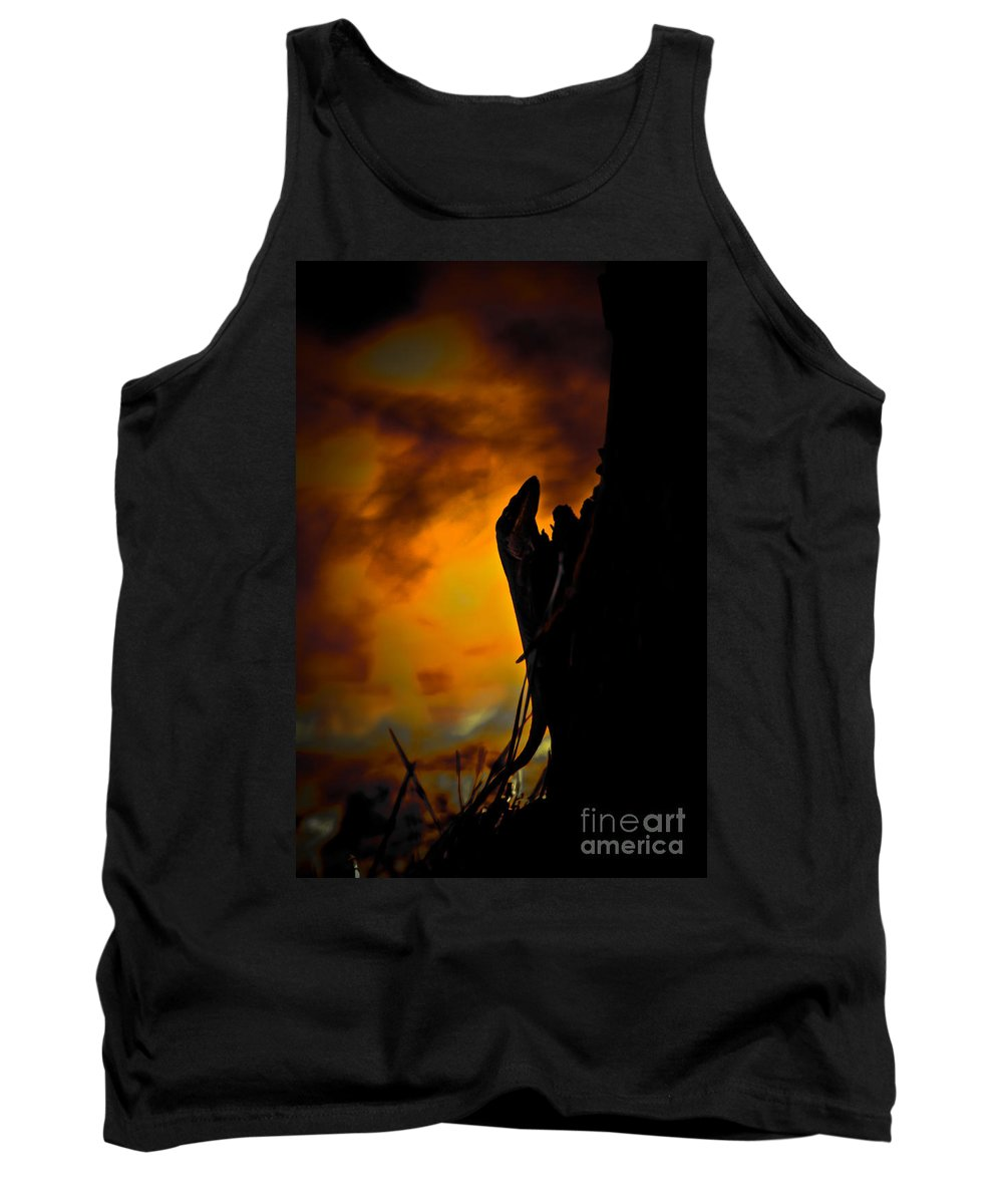 Lizard Tank Top featuring the photograph Storm's Brewing by Kim Henderson