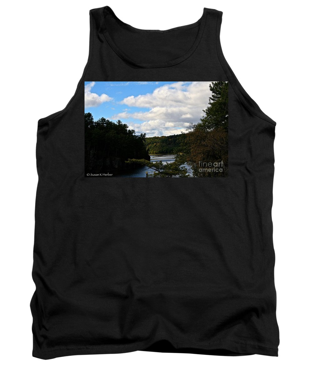 Landscape Tank Top featuring the photograph Sunny Around The Bend by Susan Herber