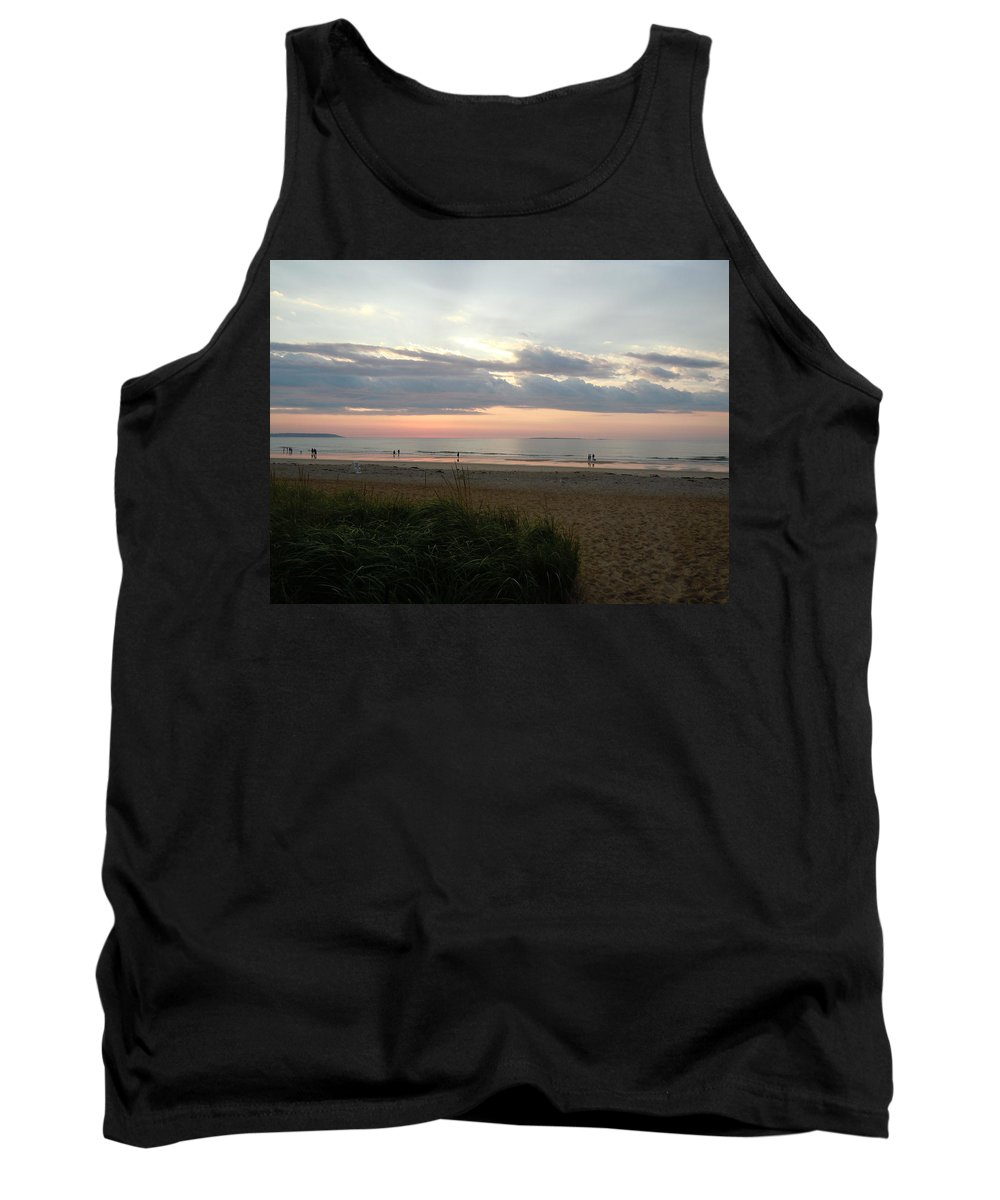 Beach Tank Top featuring the photograph Sunrise Colors Of Maine by Nancy Griswold