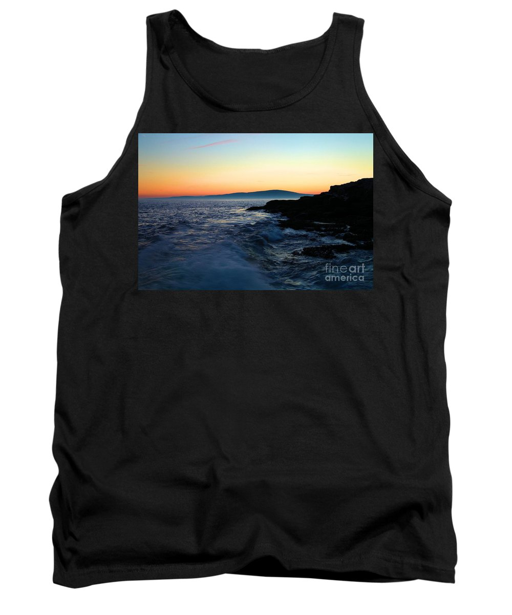 Acadia National Park Tank Top featuring the photograph Sunset At Schoodic by Adam Jewell