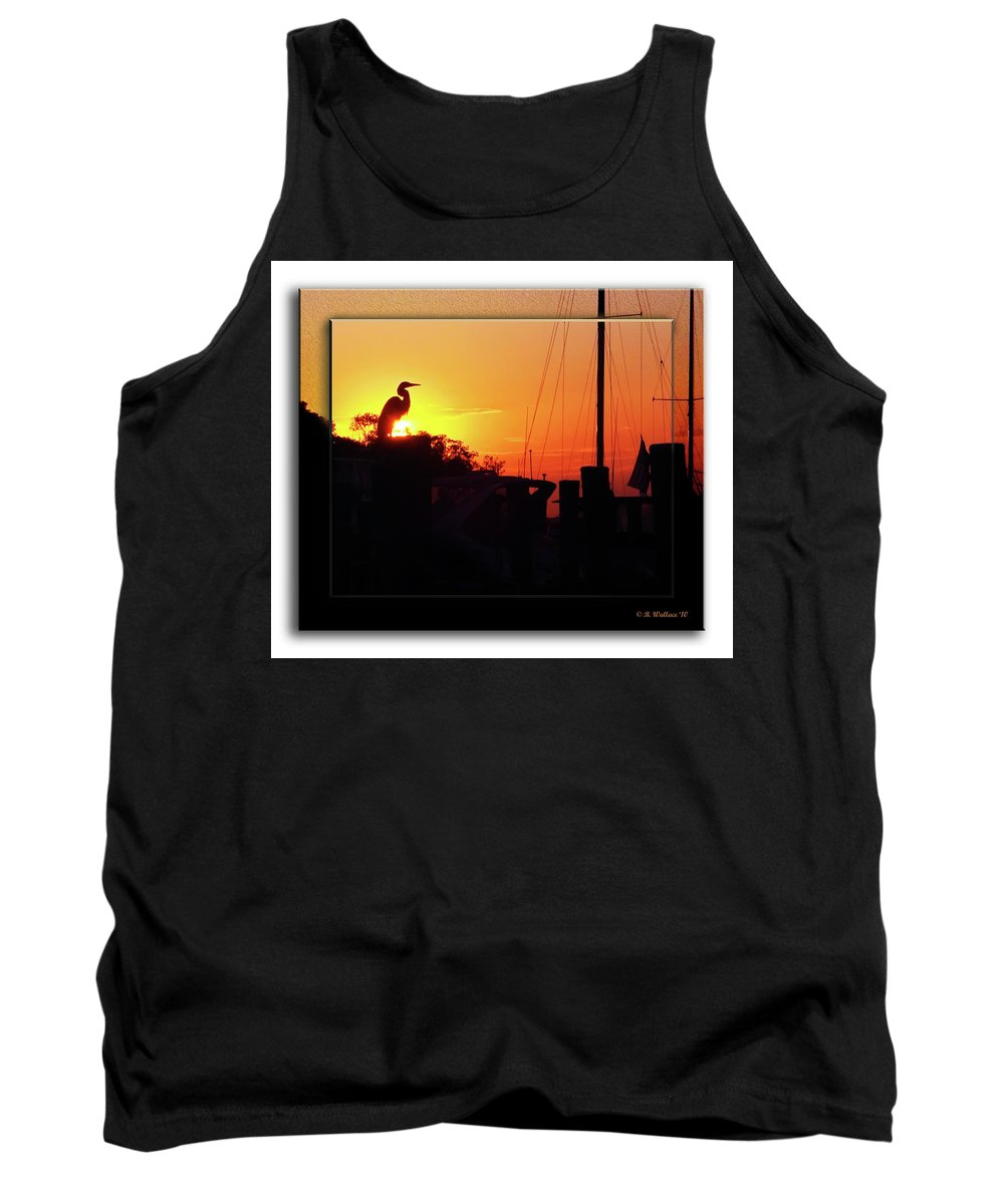 2d Tank Top featuring the photograph Sunset At The Granary by Brian Wallace