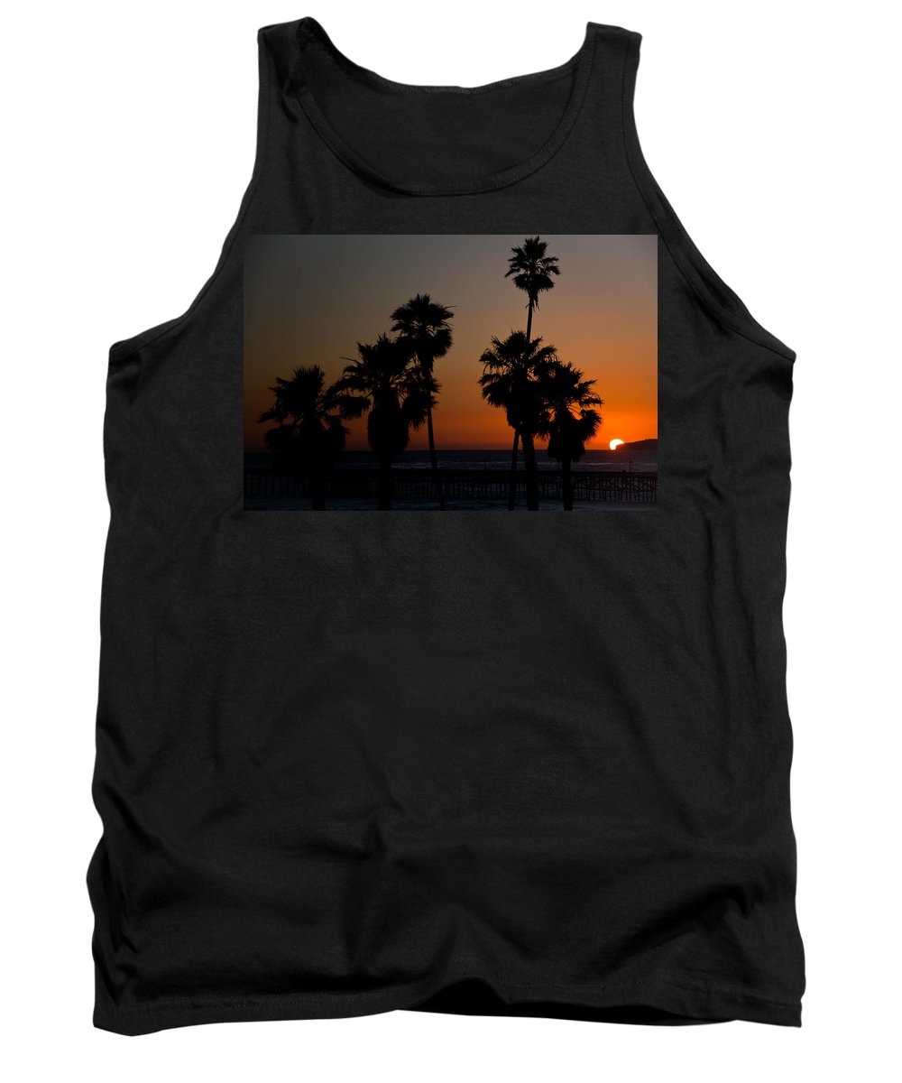 San Clemente Tank Top featuring the photograph sunset in Califiornia by Ralf Kaiser